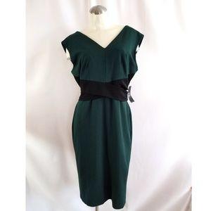 NY&C Size L Green Sleeveless Cocktail Dress